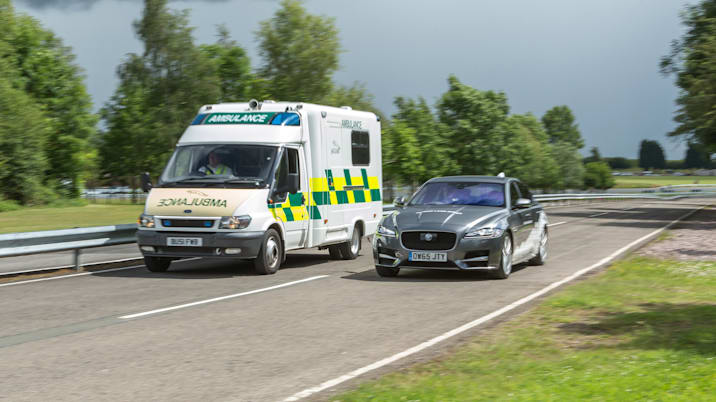 Jaguar's over the horizon warning system could be applied to emergency vehicles