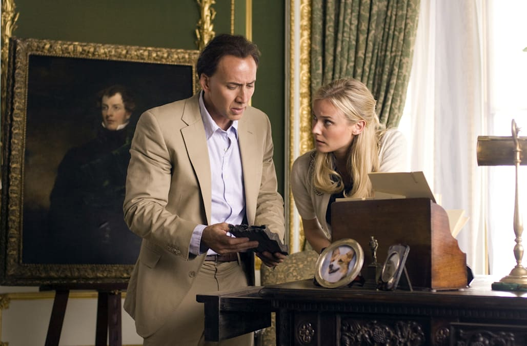 DIANE KRUGER & NICOLAS CAGE NATIONAL TREASURE: BOOK OF SECRETS; NATIONAL TREASURE 2 (2007)