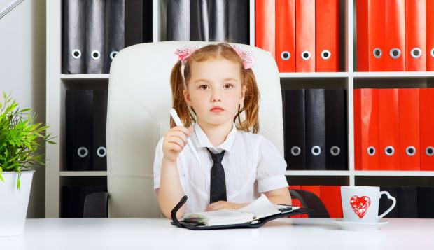 little girl as a businesswoman  ...
