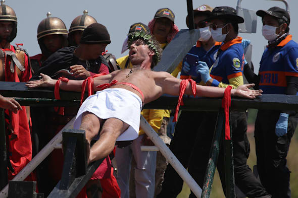CORRECTION Philippines Crucifixions