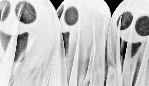 three ghost figures