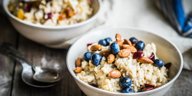 Try topping your morning porridge with some fruit, a few nuts and seeds or cinnamon to boost the