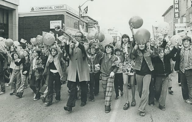 Back in 1967, trumpeter Bobby Gimby had the entire country humming; and thousands of kids marching down...