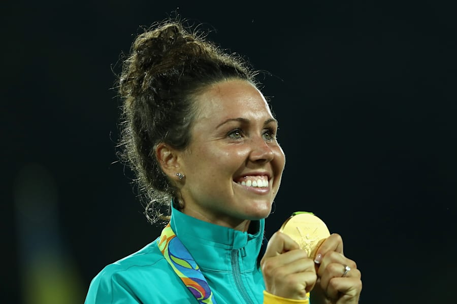 If they gave gold medals for smiles, she'd have