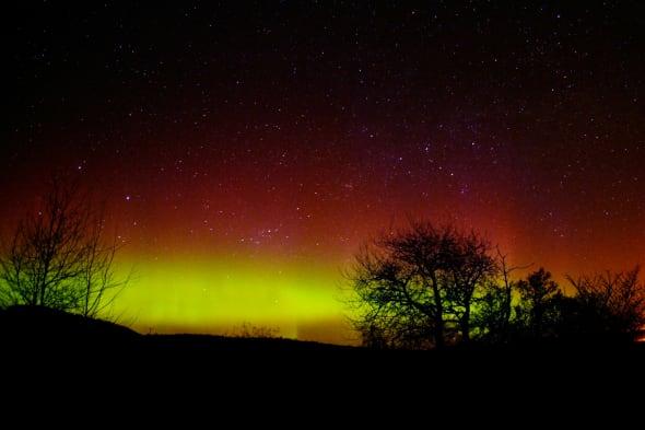 Northern Lights Captured Over Aberdeen