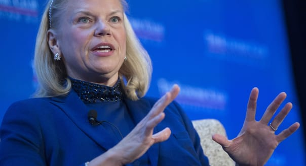 IBM Chief Executive Officer Ginni Rometty Speaks At The Economic Club Of Washington
