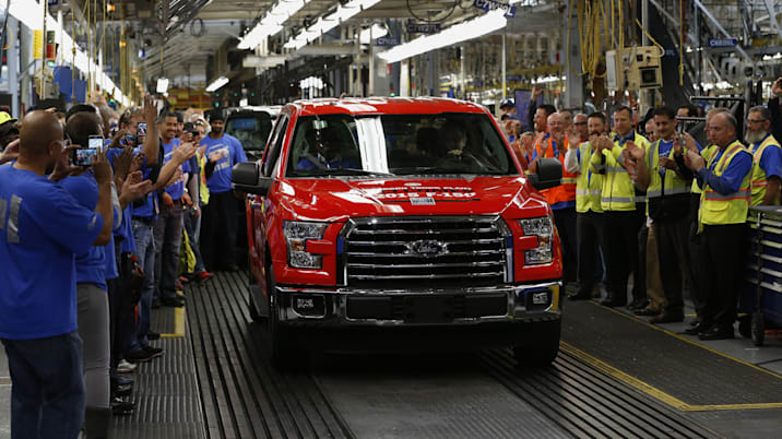 Ford Motor Co. Rolls Out Aluminum-Bodied F-150 In Factory Henry Ford Built