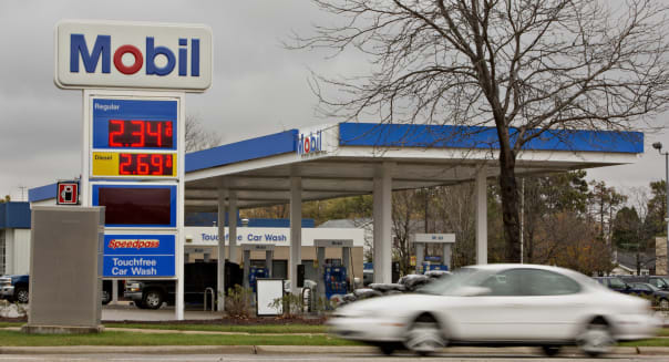 An Exxon Mobile Corp. Gas Station Ahead Of Earnings Figures