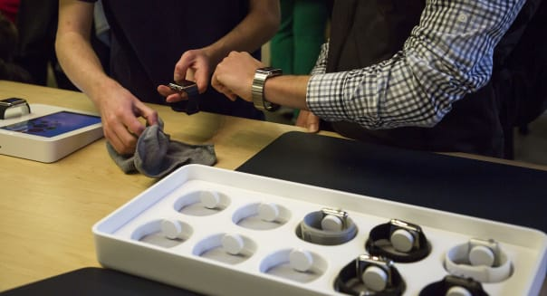 Inside An Apple Inc. Store As The Apple Watch Is Previewed