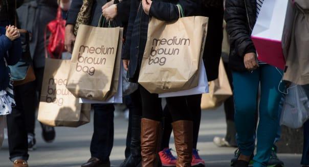 Shoppers In Midtown East Ahead Of Retail Sales Figures