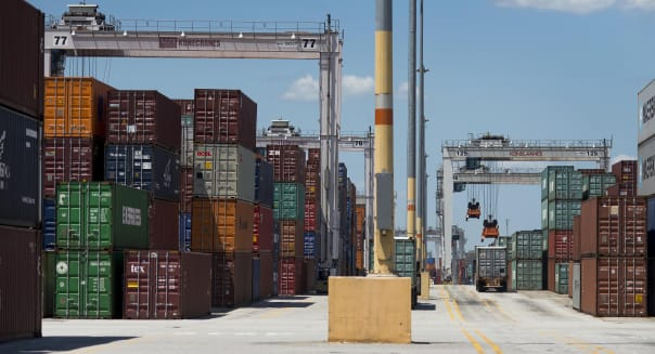 Operations At The Port Of Savannah As Trade Deficit Grew In June