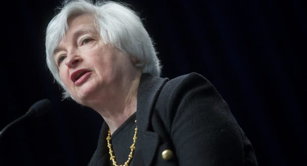 Fed Chair Janet Yellen Speaks At The International Monetary Fund