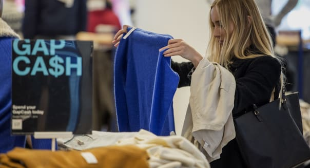 Inside A Gap Inc. Store As Earnings Figures Are Released