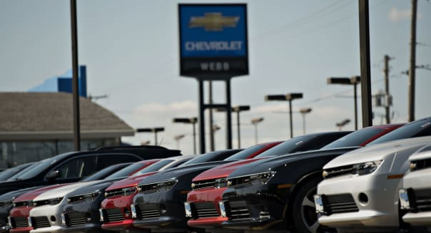 A General Motors Co. Car Dealership Ahead Of Earnings Figures