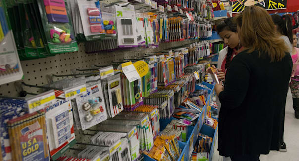 Back To School Supplies At A Target Corp. Store Ahead Of The  School Year Starting