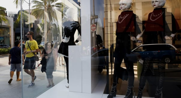 Views Of Rodeo Drive Ahead Of Retail Sales Figures