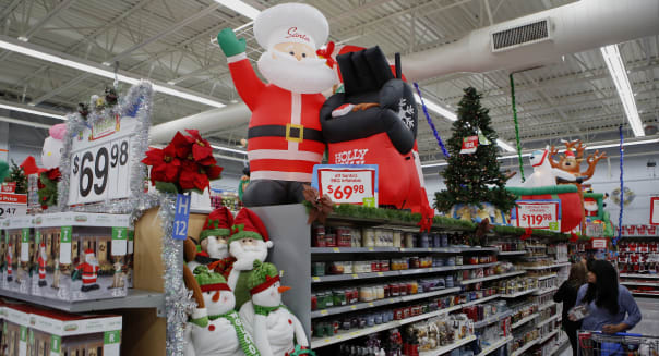 Inside A Walmart Super Store Ahead Of Black Friday