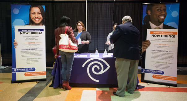 A Choice Career Fair As Jobless Claims Drop
