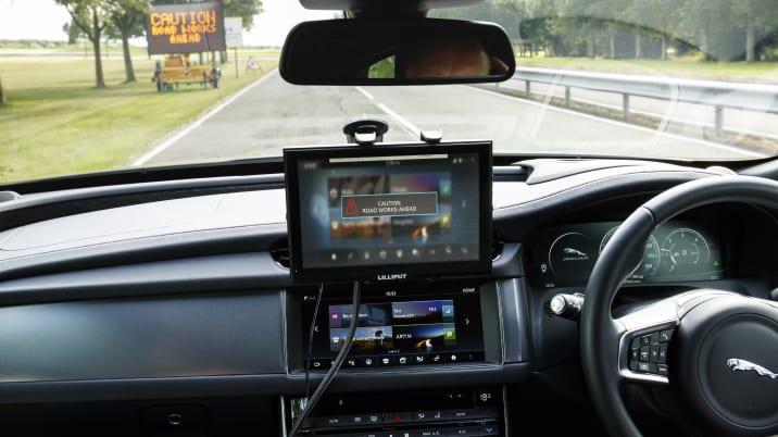 Testing Jaguar's Roadwork Assist system