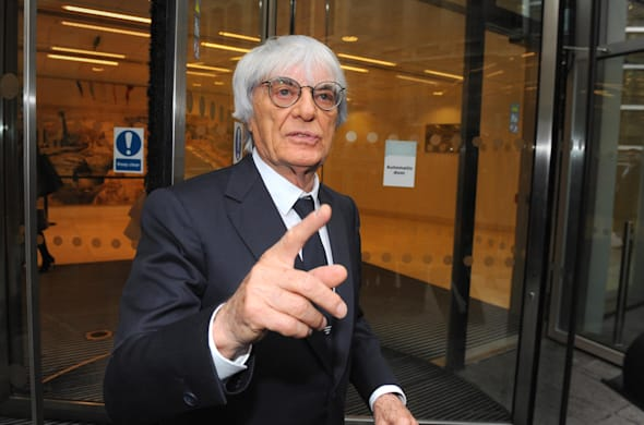 Ecclestone arrives in court