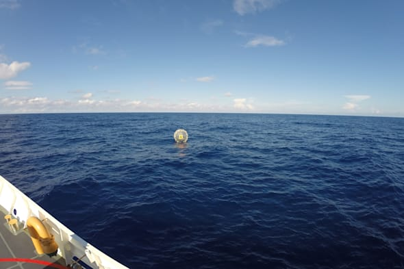 Floating Man Rescued trying to zorb to bermuda