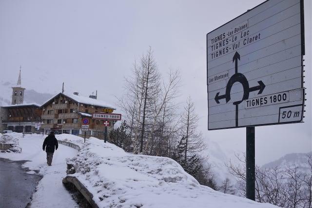 Winter views of Tignes 1800, in Savoie