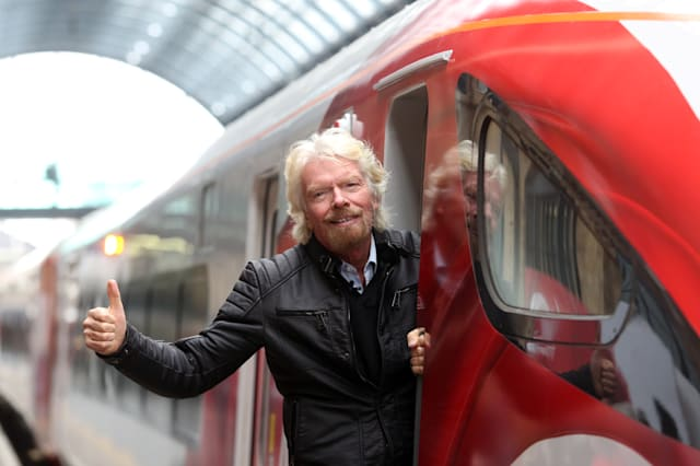 Richard Branson Unveils Virgin Trains' New Fleet For East Coast Main Line