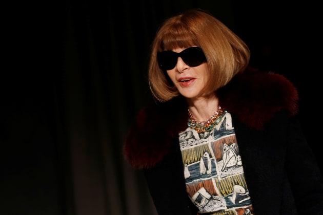 Anna Wintour à la Fashion Week de Londres en février