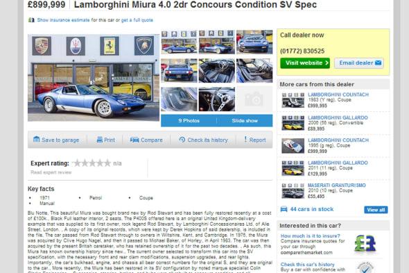 Rod S Rare Lamborghini Up For Sale Aol