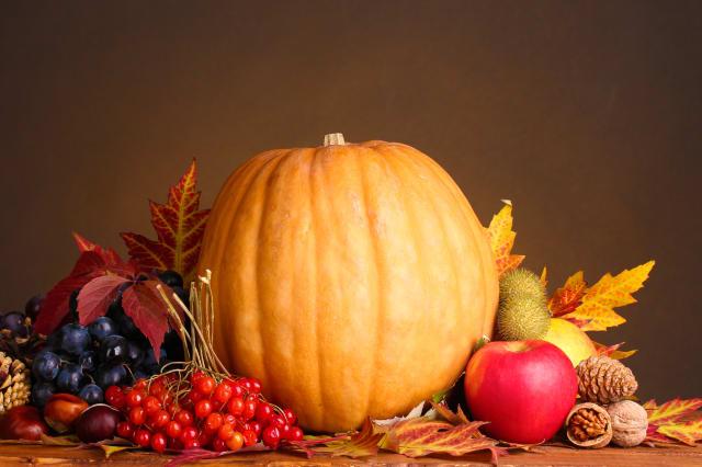 pumpkin  apples berries and...
