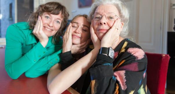 Three generations portrait of three women