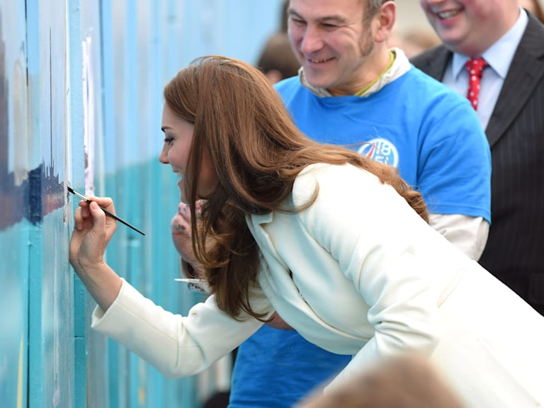 The Duchess Of Cambridge Visits Portsmouth