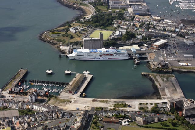 Plymouth Ferry Port: An Aerial View
