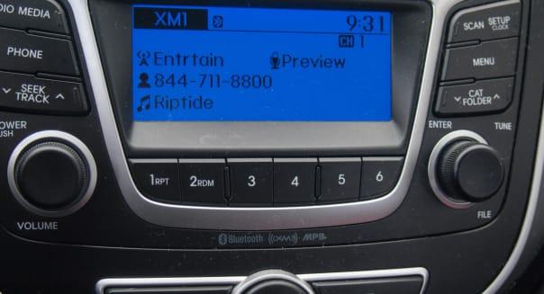 Car radio console