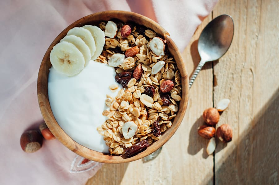 Muesli with yoghurt and fruit is a delicious, filling way to start your