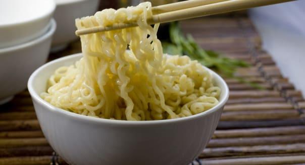 A bowl of Ramen Noodles.