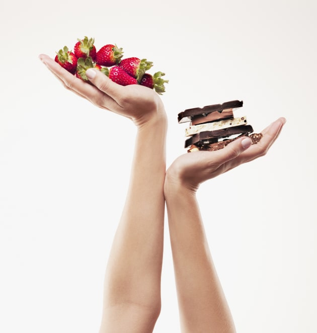 Fruit is a core food, while chocolate is a discretionary