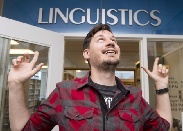 Derek Denis, seen in Toronto on June 26, 2017 is a post-doctoral researcher of linguistics at the University...