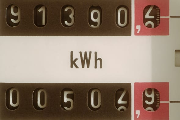 Close Up of an Electric Meter
