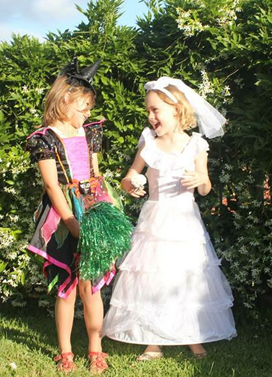 supplied phoebe vandekreeke with a friend decided to use the occasion of halloween to dress as a bride