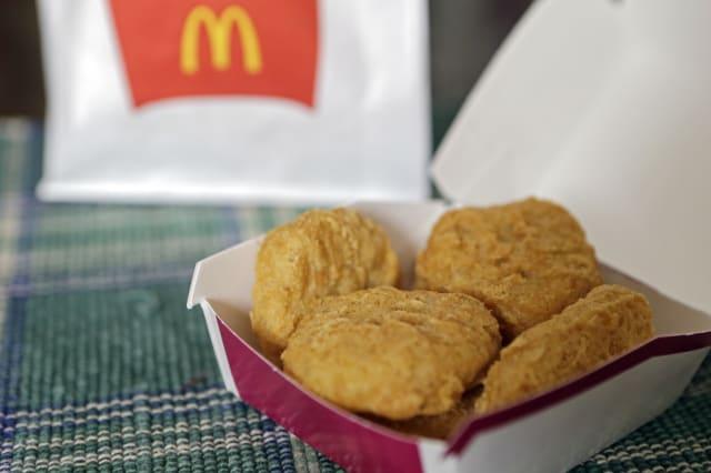 McDonalds served on westjet flights
