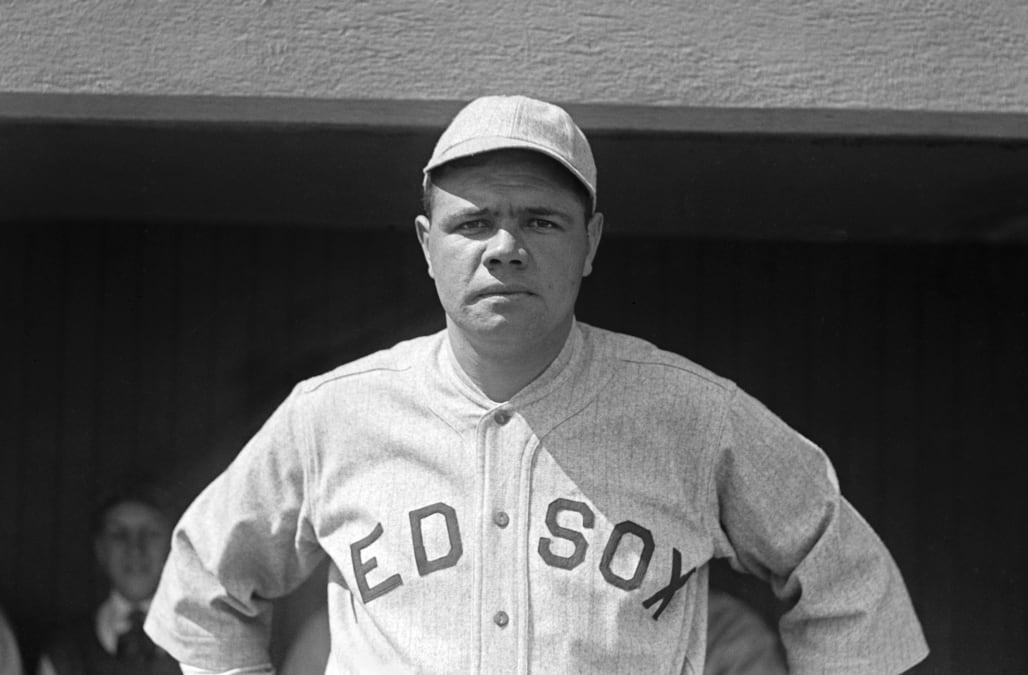 Babe Ruth In Red Sox Uniform