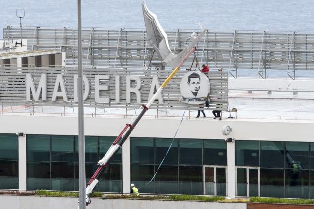 Cristiano Ronaldo signage at Madeira Airport