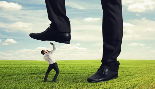 boss trampling down in the land ...