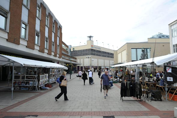 Hemel Hempstead, UK. 20th Aug, 2013. Hemel Hempstead has been named BritainÕs Ugliest Town according to a poll, run by the team