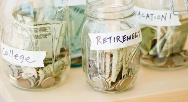 Jars of savings