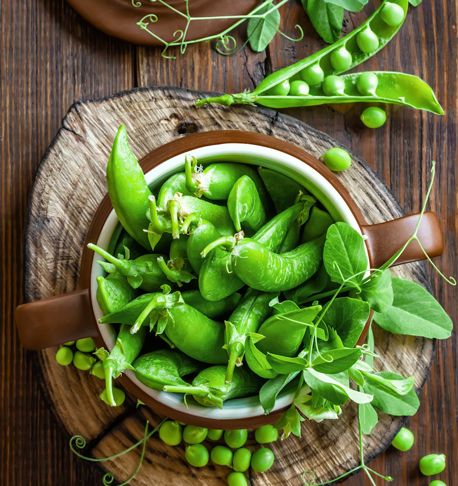 Protein comes in all shapes and sizes. One cup of green peas contain eight grams of