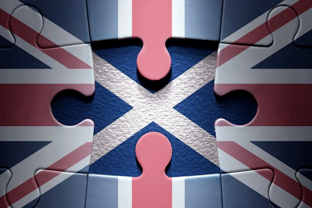 Scottish independence jigsaw puzzle concept