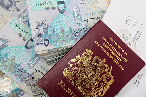 a new british passport with a...