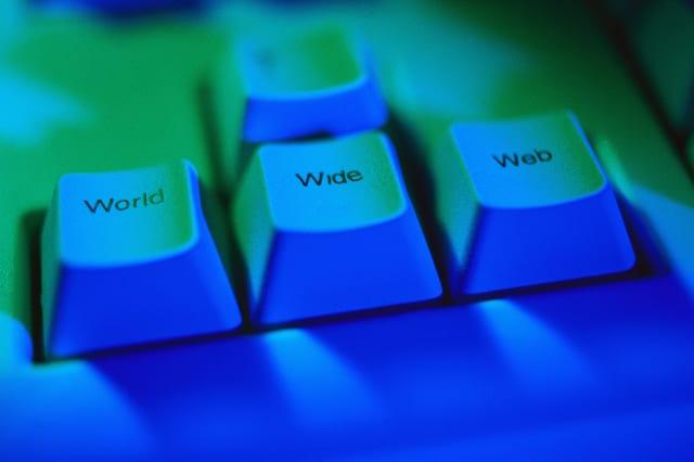 World Wide Web Keys on Computer Keyboard